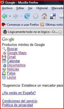 Productos de Google para móviles